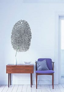 Fingerprint Wall Sticker - living room