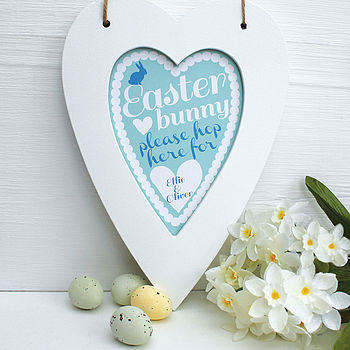 Personalised Easter Bunny Heart Print