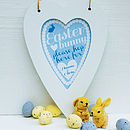 Personalised Easter heart print, Spring Blue
