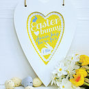 Personalised Easter heart print, Daffodil Yellow