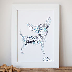 Personalised Pet Fine Art Name Print - posters & prints
