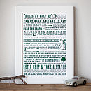 'Rules To Golf By' Golf Lovers' Print