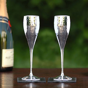 Silver Plated Champagne Goblets - drink & barware
