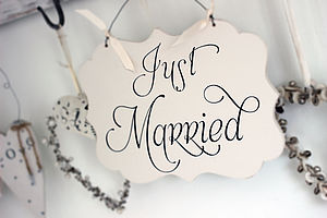 Just Married Wedding Sign - outdoor wedding signs