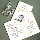 Personalised Colourful Christening Invitation