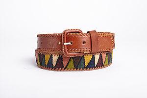 Hand Woven Earthy Multi Colour Belt - belts
