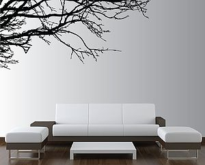 Moody Branch Wall Sticker - decorative accessories