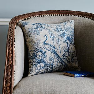 Toile Linen Cushion