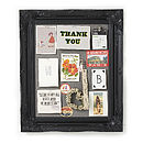Ornate Black Framed Pinboard Noticeboard