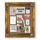 Ornate Gold Framed Pinboard Noticeboard