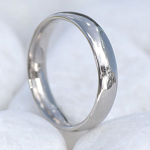Comfort Fit Wedding Ring, 18ct Gold Or Platinum