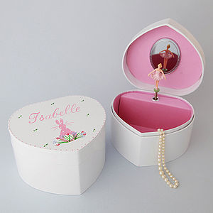 Personalised Bunny Jewellery Box