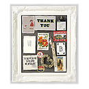 Ornate White Framed Pinboard Noticeboards