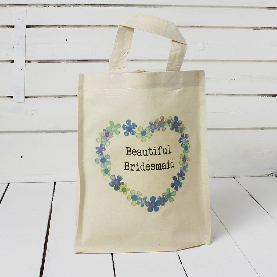 personalised wedding party tote bag by snapdragon ...