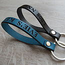 Personalised Engraved Message Real Leather Keyring