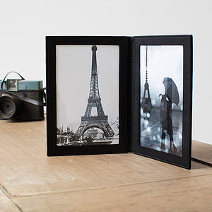 Leather Travel Photo Frame - picture frames