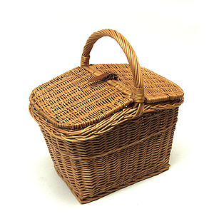 Wicker Picnic Hamper Basket - camping