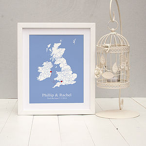 'Tied The Knot' Personalised Print - art & pictures
