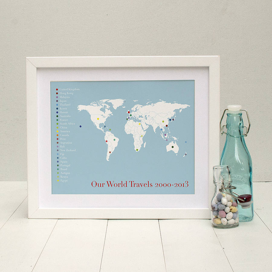 The globetrotter personalised print by brambler the globetrotter personalised print gumiabroncs Image collections
