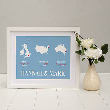 'Trio Couples Delight' Personalised Print