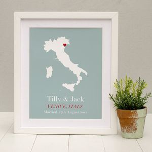 Personalised Treasured Location Print - maps & locations