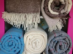 Stunning New Wool Throws - bed, bath & table linen