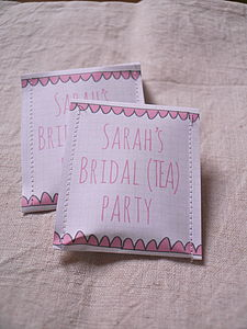 Bridal Shower Tea Bag Favour Pack Of 10 - wedding favours
