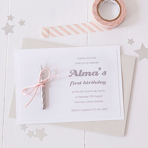 Candle Party Invitations - personalised
