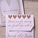 Love Is Brewing Wedding Tea Favour Pack Of 10