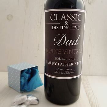 Personalised Dad Fine Vintage Wine Label
