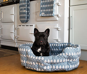 Organic Cotton Isabella Blue Pet Bed - beds & sleeping