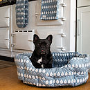Organic Cotton Isabella Blue Pet Bed