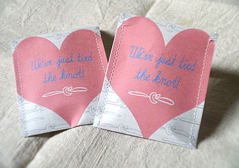 The Knot Wedding Favour Tea Pack Of 10