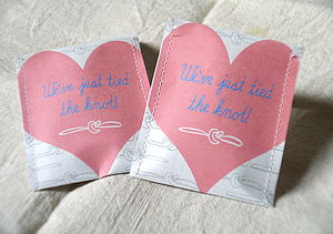 The Knot Wedding Favour Tea Pack Of 10 - wedding favours