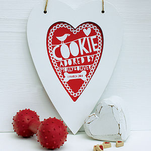 Personalised Pet Heart Print - easter decorations