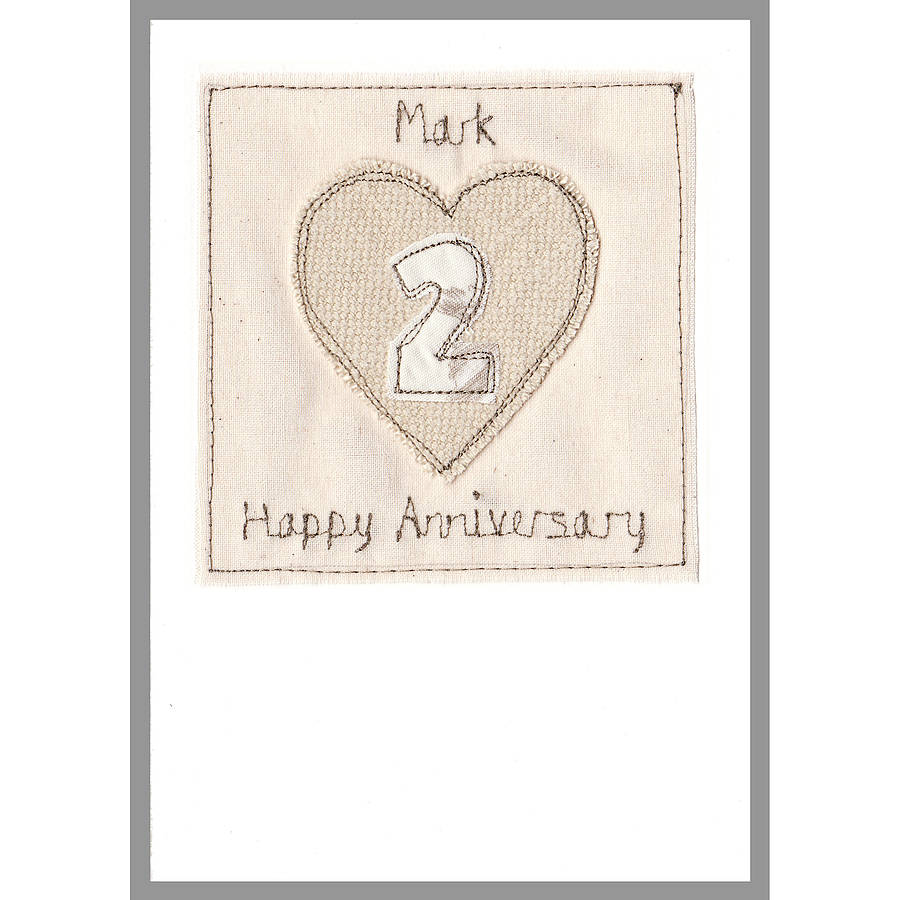 Personalised 2nd Wedding Anniversary Card