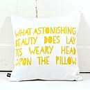 Scandi Flowers Cushion In Yellow