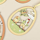 Set Of Four Easter Hanging Decorations