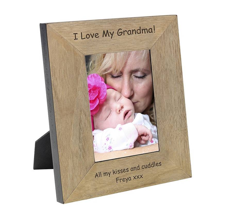 personalised i love my grandma photo frame
