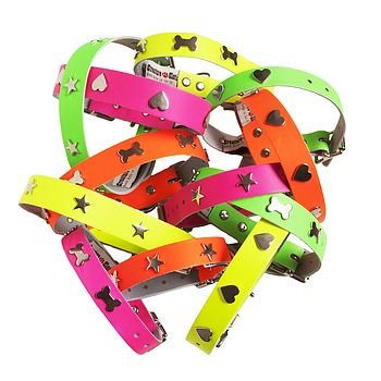 Neon Handmade Leather Collar
