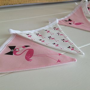 Children's Fabric Pink Flamingo Bunting - hanging decorations