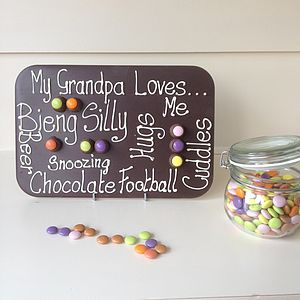 Father's Day Personalised Grandpa Giant Chocolate Slab