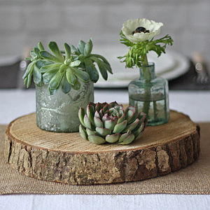Wooden Tree Slice Wedding Centrepiece - table decorations