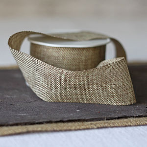 Hessian Burlap Ribbon - diy stationery