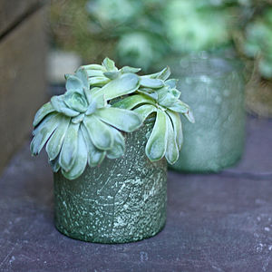 Chunky Organic Green Vase Or Votive - table decorations