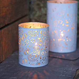 White Lantern - votives & tea light holders