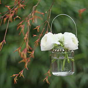 Hanging Jam Jar With Bells - lights & lanterns