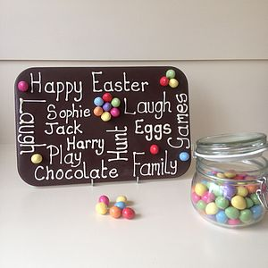 Personalised Easter Giant Chocolate Plaque