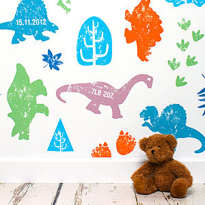Personalised Dippy The Dinosaur Wallpaper - wallpaper