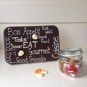 Personalised Edible Chocolate Plaque - food & drink gifts
